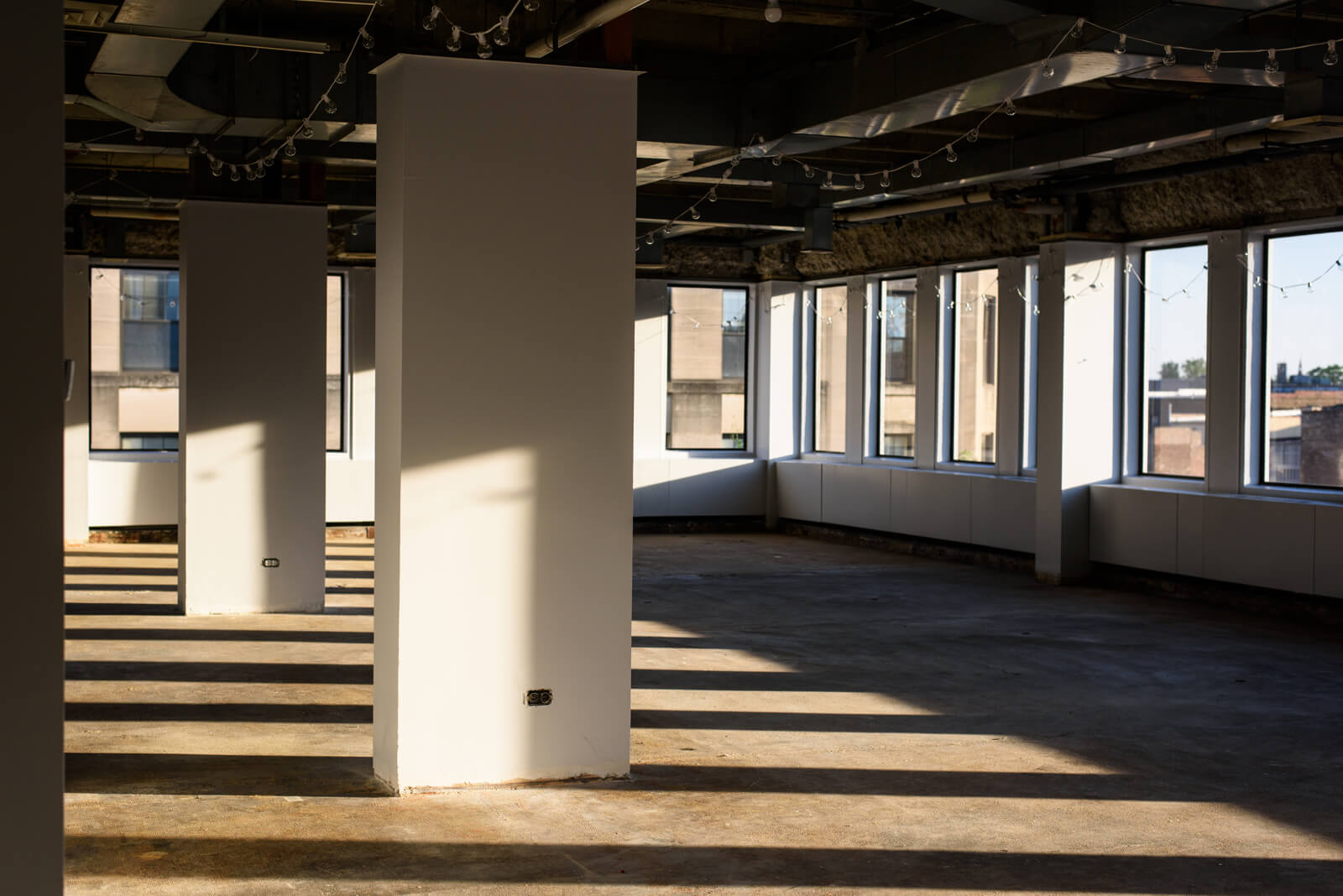 Raw office or medical space available for customization at 1010 Lake Street, Downtown Oak Park, IL