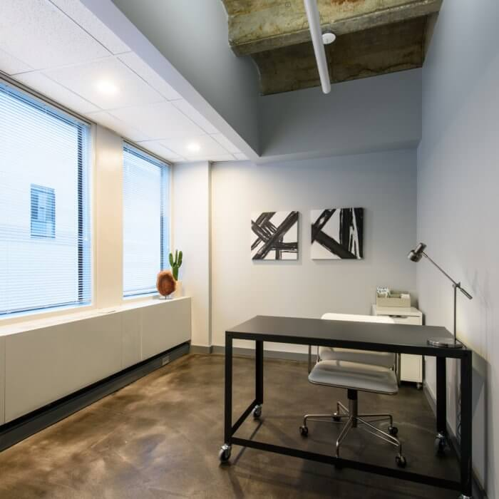 Available finished spec suite office space in Downtown Oak Park :: 1010 Lake Street, Oak Park, IL