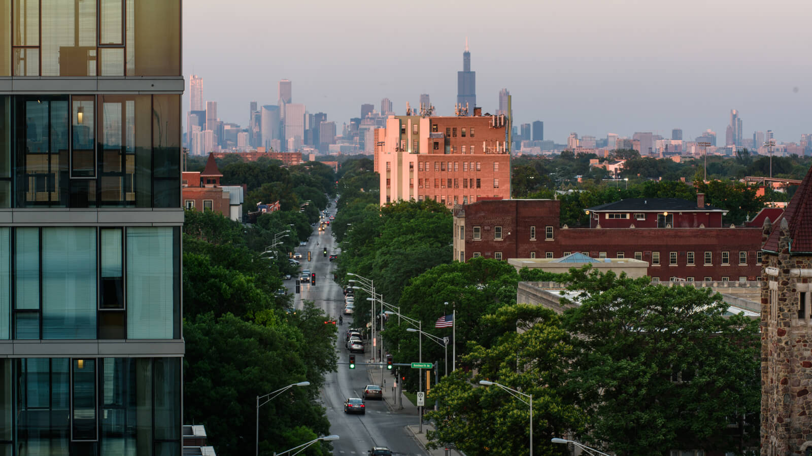View of Chicago from 1010 Lake Street, Oak Park, IL