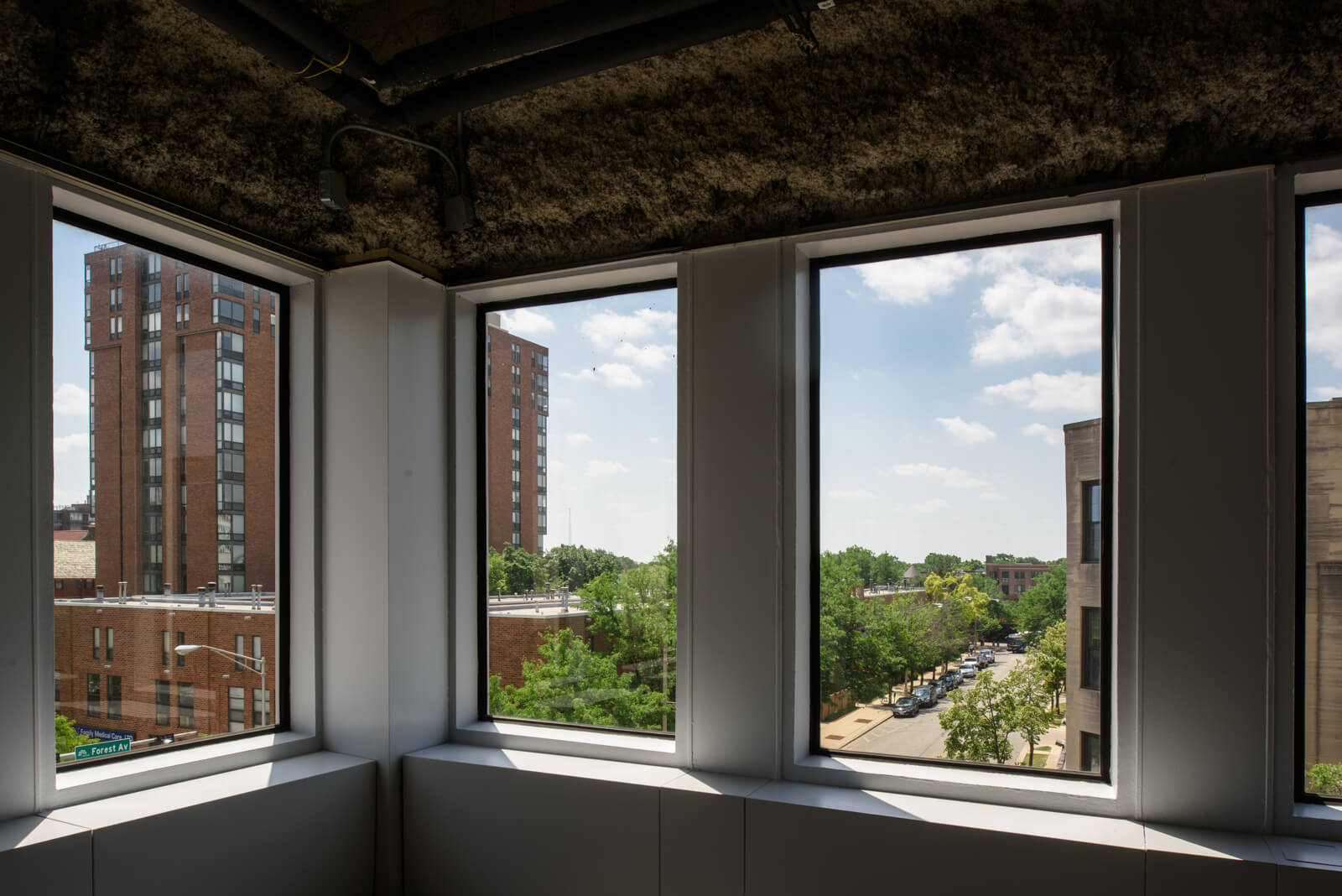 Views from the available offices and medical spaces at 1010 Lake Street, Oak Park, IL