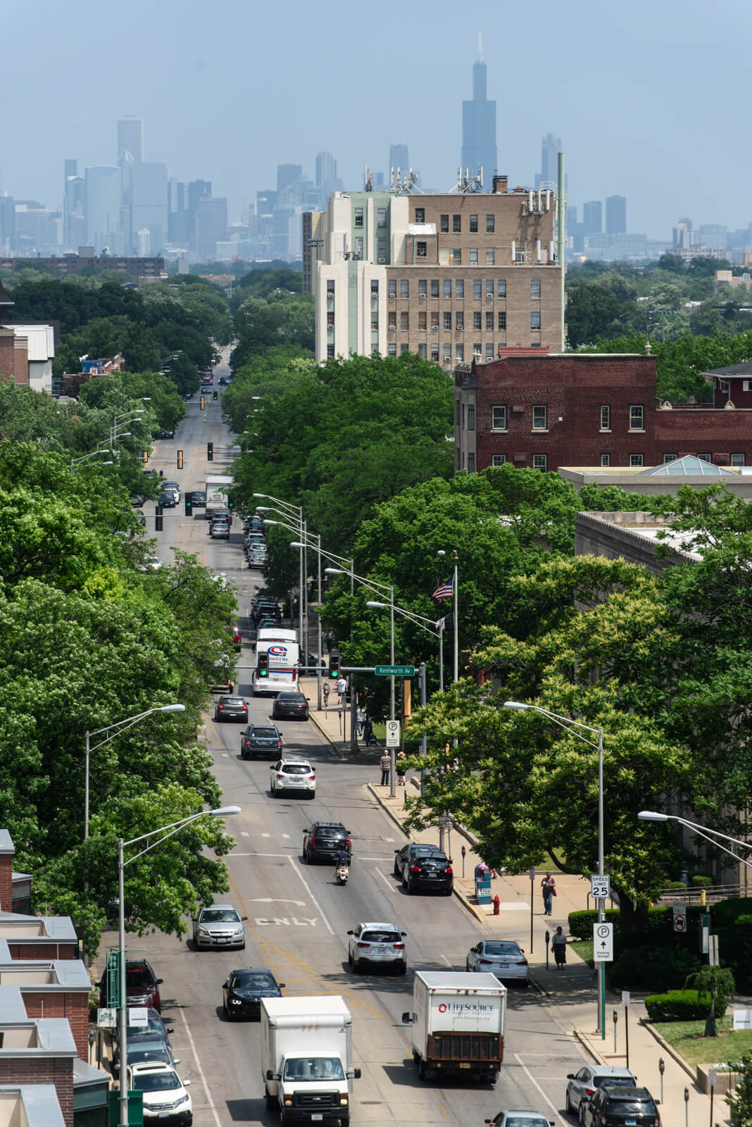 View of Downtown Chicago from 1010 Lake Street, Oak Park, IL