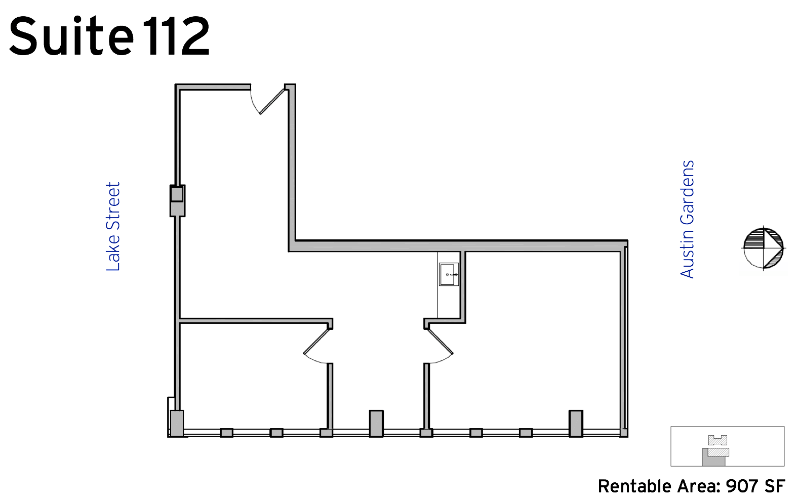 Suite 112 - 1010 Lake Street available office space floor plan