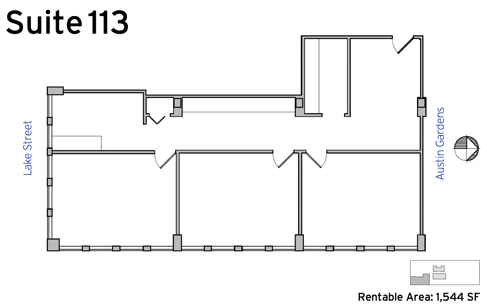 Suite 113 - 1010 Lake Street available office space floor plan
