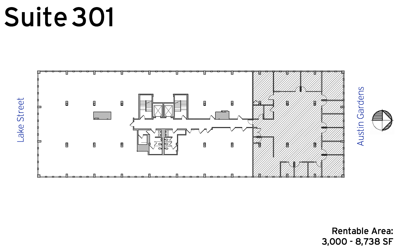 Suite 301 - 1010 Lake Street available office space floor plan