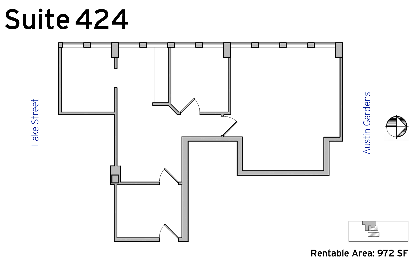 Suite 424 - 1010 Lake Street available office space floor plan