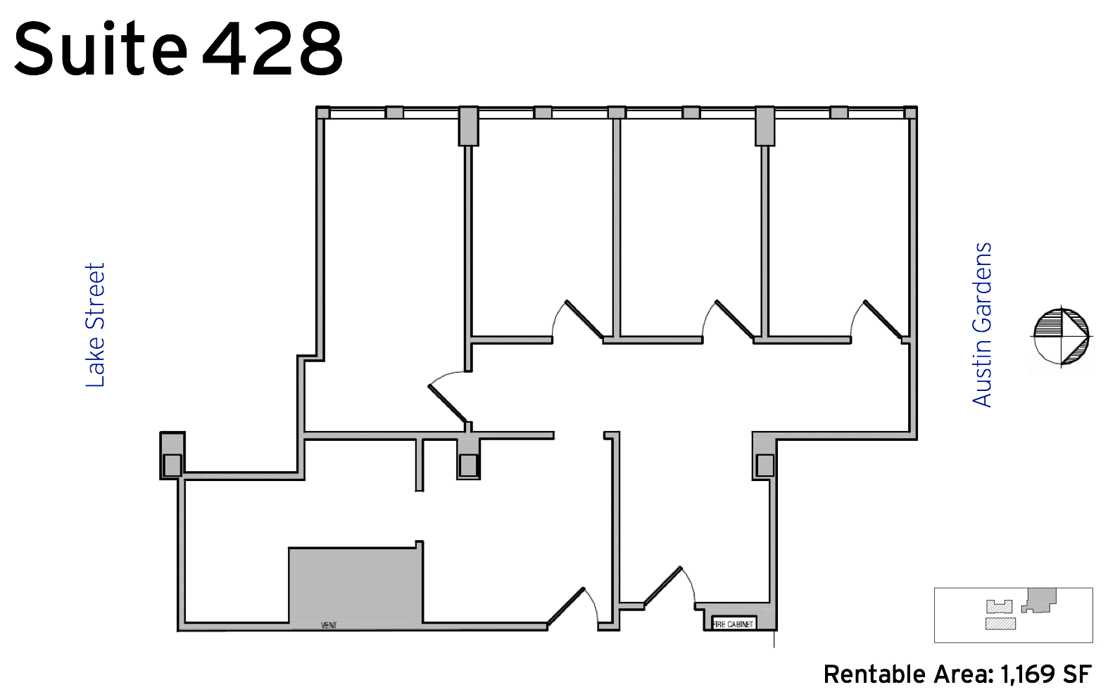 Suite 428 - 1010 Lake Street available office space floor plan