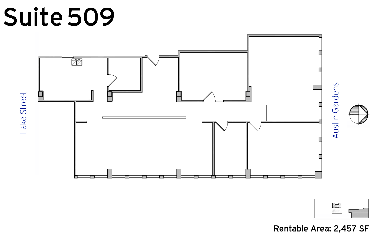 Suite 509 - 1010 Lake Street available office space floor plan