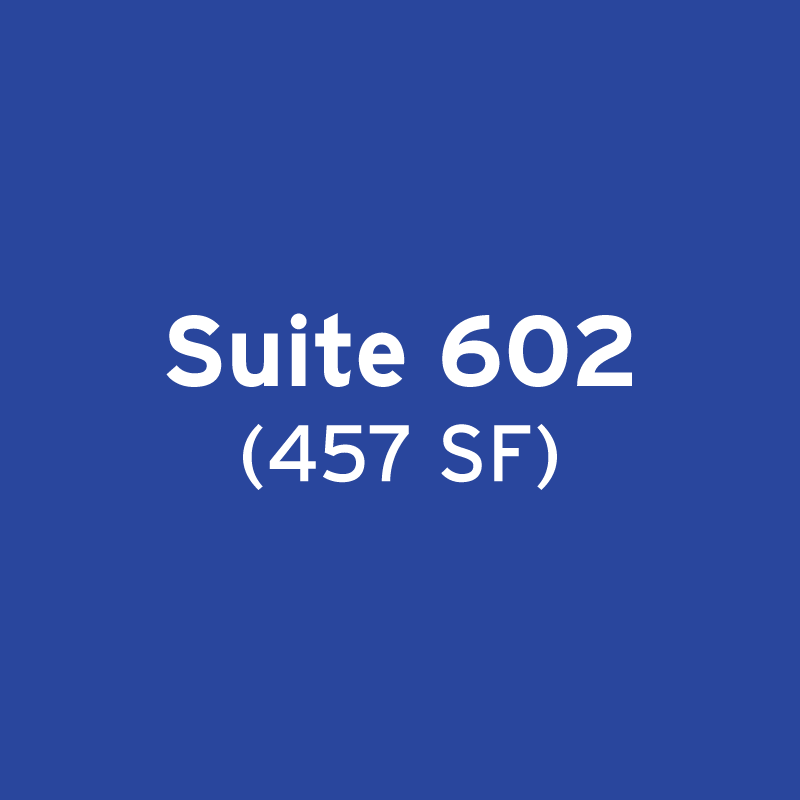 Suite 602 (457 SF) – Distinctively Classic Move-In Ready Spec Suite